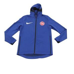 Nike XL Detroit Pistons Therma Flex Hoodie Blue